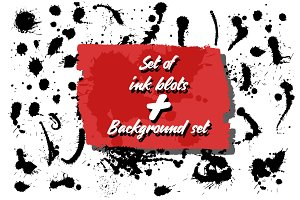 Ink blots set + 10 Backgrounds.
