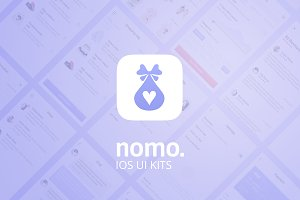 Nomo. UI Kit + wireframe + animation