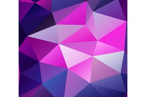 Triangle background. Purple polygons