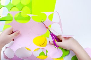 Paper eggs different colors craft
