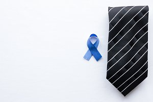 symbol of prostate cancer and tie