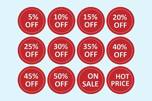 vector of  sale tags