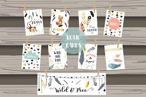 8 cute lovely design boho cards2#