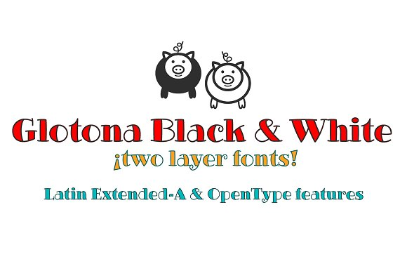 Glotona Black & White fonts