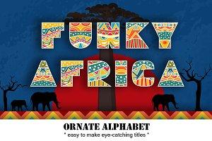 Funky Africa Alphabet