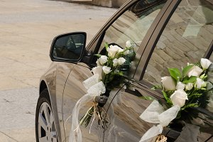 Wedding car in black