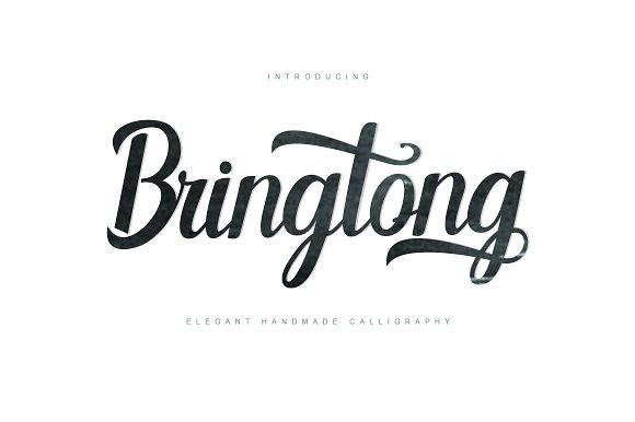 Bringtong in Script Fonts