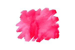 Watercolor pink spot isolated vector