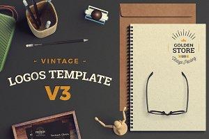 Vintage Logos Template Bundle V3