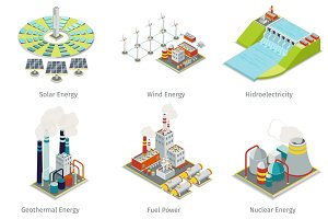 Power plant icons