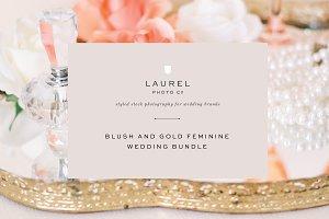 Blush and Gold Wedding Bundle