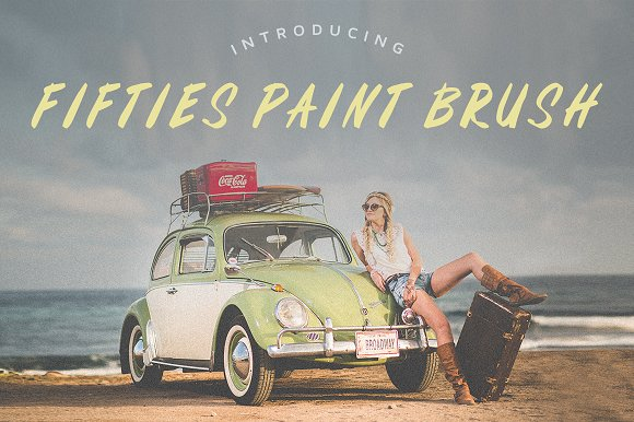 Fifties Paint Brush Font