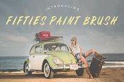 Fifties Paint Brush Font