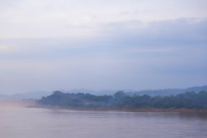 Mekong River in the evening