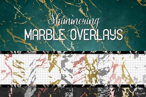 Shimmering Marble Overlays