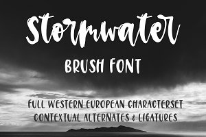 Stormwater Brush Font