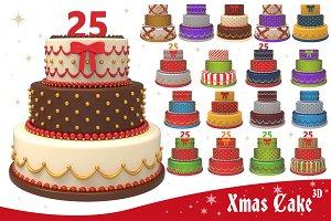 Xmas Cake 3D