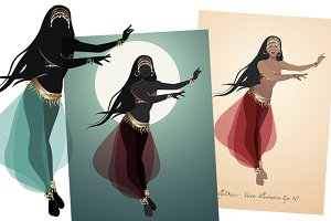 Belly Dancer II -Vector Illustration