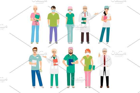 Medical Staff Standing People