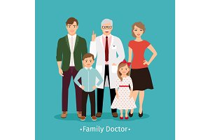 Family doctor medicine concept