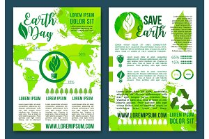 Earth nature ecology infographics vector brochure