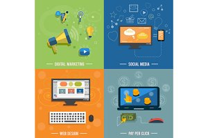 Set icons for web design