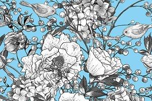 Monochrome Spring Floral Bouquet