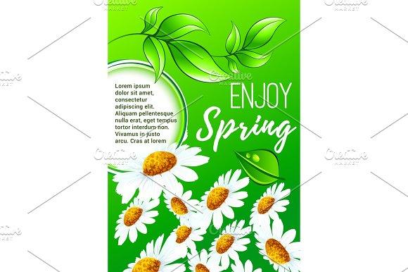 Spring Flower Poster For Springtime Holiday Design