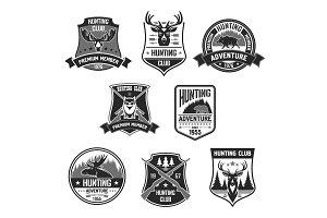 Vetor badges of hunting