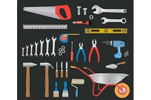 Modern hand tools. instruments