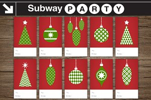 Christmas Gift Tags Red & Green