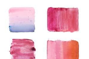 colorful retro vintage abstract watercolour aquarelle art hand paint on white background