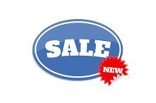 Set sale label. Sticker with sale