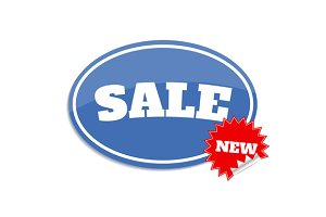 Set sale label. Sticker with sale