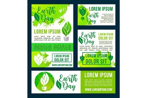 Earth Day vector green nature environment design