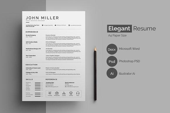 Resume CV Elegant