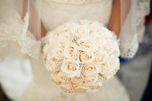 A magnificent wedding bouquet