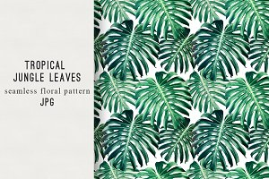 Jungle leaves seamless pattern