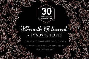 Wreaths & Laurels Clipart Set