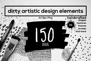150 Handcrafted design elements