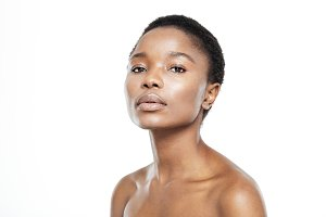 Afro american woman with fresh skin