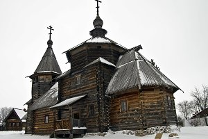 Wooden church in the Suzdal