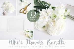 The White Flowers mockups bundle