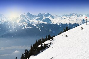 Beautiful Nature Background. Alpes