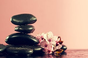 Spa Concept. Spa Products, Flowers