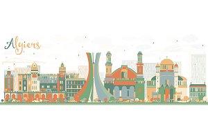 Abstract Algiers Skyline