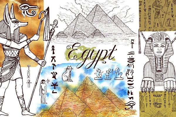 Egypt art collection