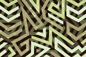 Graffiti grunge geometric pattern
