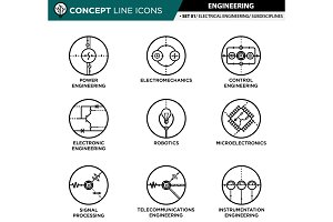 Concept line icons - engineering #1