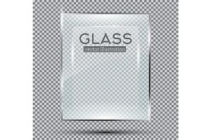Glass Plate Isolated On Transparent